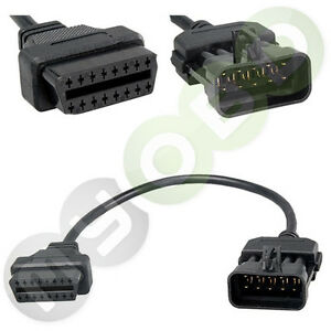 für opel 10 pin adapter auf obd2 16 pin für zb. opel tech2 calibra