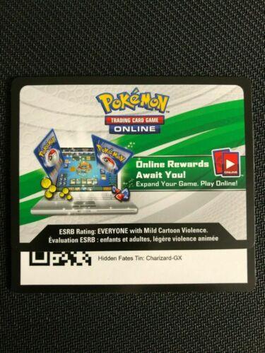 Pokemon Hidden Fates Tin Charizard GX LOT of 4 Online Code Card PTCGO