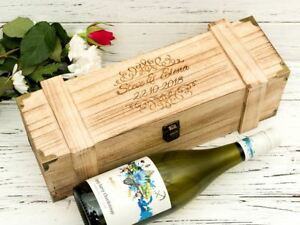Details About Personalised Wine Gift Box Engraved Wooden Chest Champagne Chest Style