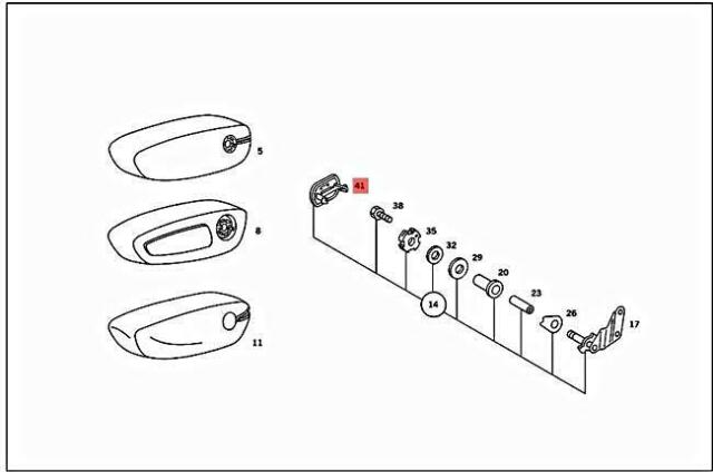Rosette Abdeckung Stopfen Kappe für Kopfstütze an Mercedes R107 Sitz