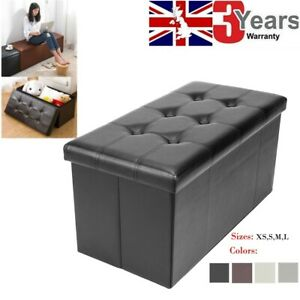Enjoyable Details About Large 30 Faux Leather Folding Storage Box Ottoman Cube Bench Foot Rest Seat Uk Creativecarmelina Interior Chair Design Creativecarmelinacom