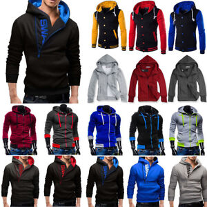 Mens-Superman-Baseball-Coat-Jacket-Cosplay-Sweatshirt-Hoodie-Zipper-Tops-Outwear