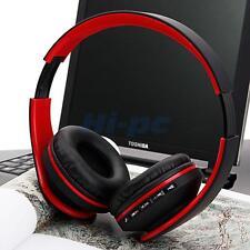 Foldable Wireless Bluetooth Headset Stereo Headphone FM Radio Earphone Universal