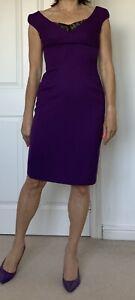 NEW-LK-Bennett-Fitted-Dress-Size-8-Purple