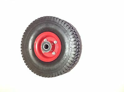 "10"" WHEEL - 4.10/3.50-4 HEAVY DUTY AIR TYRE RIDE-ON MOWER TROLLEY GO-KART 136KG"