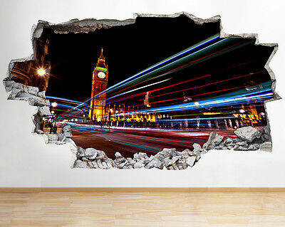 Wall Stickers London Famous Bridge River Vinyl Poster Livingroom Decal Art 3D