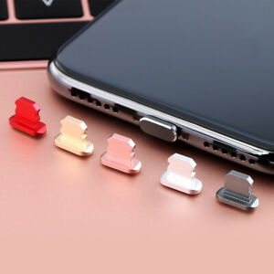 Lightning-Port-Dust-Plug-Cap-For-iPhone-7-7-8-8-X-Apple-Alloy-Connector-Cover