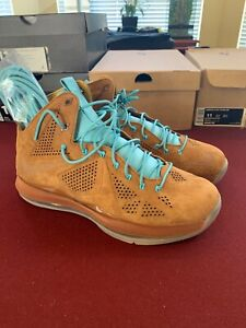 9d9c5ba0bc74 Nike Lebron 10 X Ext Qs Blue Hazelnut Brown Suede Brand New DS Size ...
