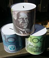 14x13cm Blech Spar Dose  Australien  Australian  Dollar