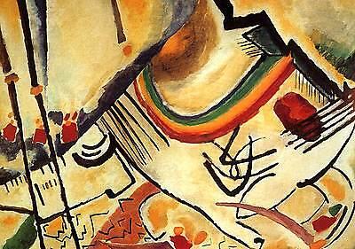 Kandinsky #23 cm 50x70 cm Stampa su Carta Fotografica Opaca Matt Papi Arte