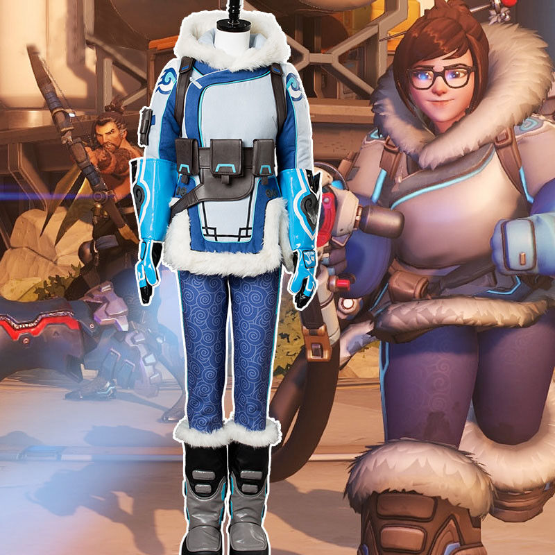 Overwatch OW Mei Ling Zhou Cosplay Costume Halloween Uniform Suit Outfit