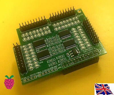I//O Pi ioPi  I2C 23017 x4 64 GPIO Board for Raspberry Pi A  B A B2 B3 B
