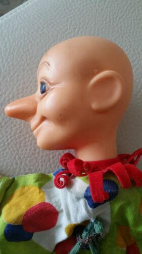 Puppen Alte STEIFF Handpuppe Kasper 7001/27 mit zwei Glöckchen