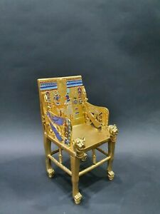 Gorgeous king Tutankhamun Throne Handmade from the copper with the Gold painting