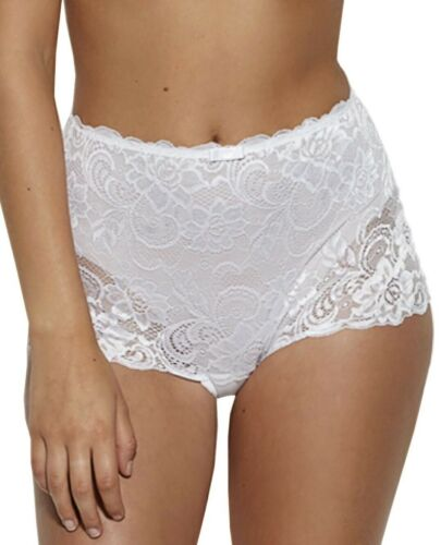 Details about  /Gossard Gypsy Deep Short Size 3XL 20 22 White Lace High Waist Knickers 11114
