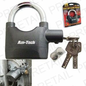 HIGH-SECURITY-ALARM-LOCK-Alarm-Padlock-Bike-Motorbike-Wheel-TOP-QUALITY