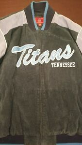 NFL Game Day Tennessee Titans Full Zip Titans Blue Suede Leather ... 774cfd14a