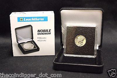 50 Mercury Dime Coin Holder Snap Capsule 18mm LIGHTHOUSE QUADRUM 2x2 Storage