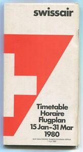 SWISSAIR-TIMETABLE-WINTER-1980-FLUGPLAN