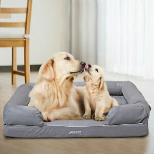Details about Large Dog Sofa Bed Removable cover Soft Warm Calming Bed Dog  House for Sleeping