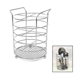Image Is Loading Cutlery Holder Stand Kitchen Drainer Pot Utensil Stainless