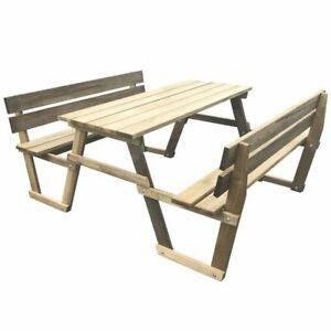Détails sur vidaXL Table de Pique-nique avec 2 Bancs Bois de Pin Imprégné  Meuble de Jardin