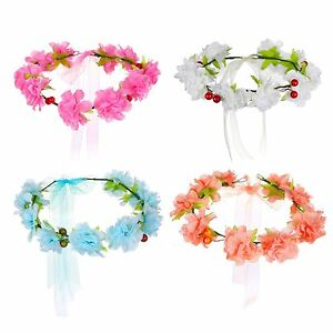 bandeau-pour-cheveux-fleurs-couronne-cerises-ruban-Parure-FESTIVAL-de-kopfkranz