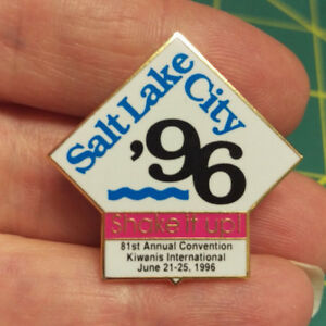Details about Kiwanis Pin - Salt Lake City '96 Shake It Up 81st Annual  Convention June 1996