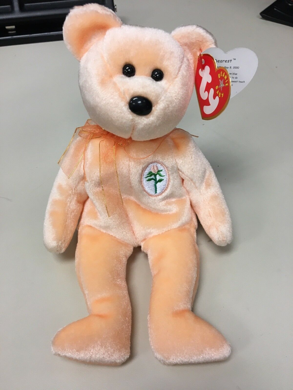 Ty Ty Ty Beanie Baby DEAREST Mother's Day Bear MWMT  RETIRED  RARE with tag error da0bc5