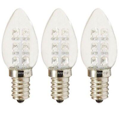 10-Bulbs A-C7E12LCW C7 LED Night Light bulb 120V E12  0.5Watt Cool White Anyray