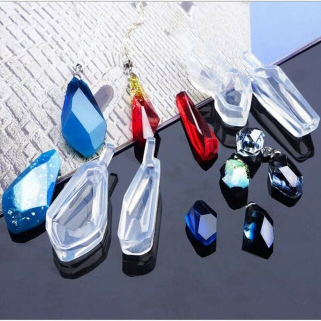 Transparent Silicone Diamond Cut Pendant Mould for Resin Jewelry DIY Making Mold