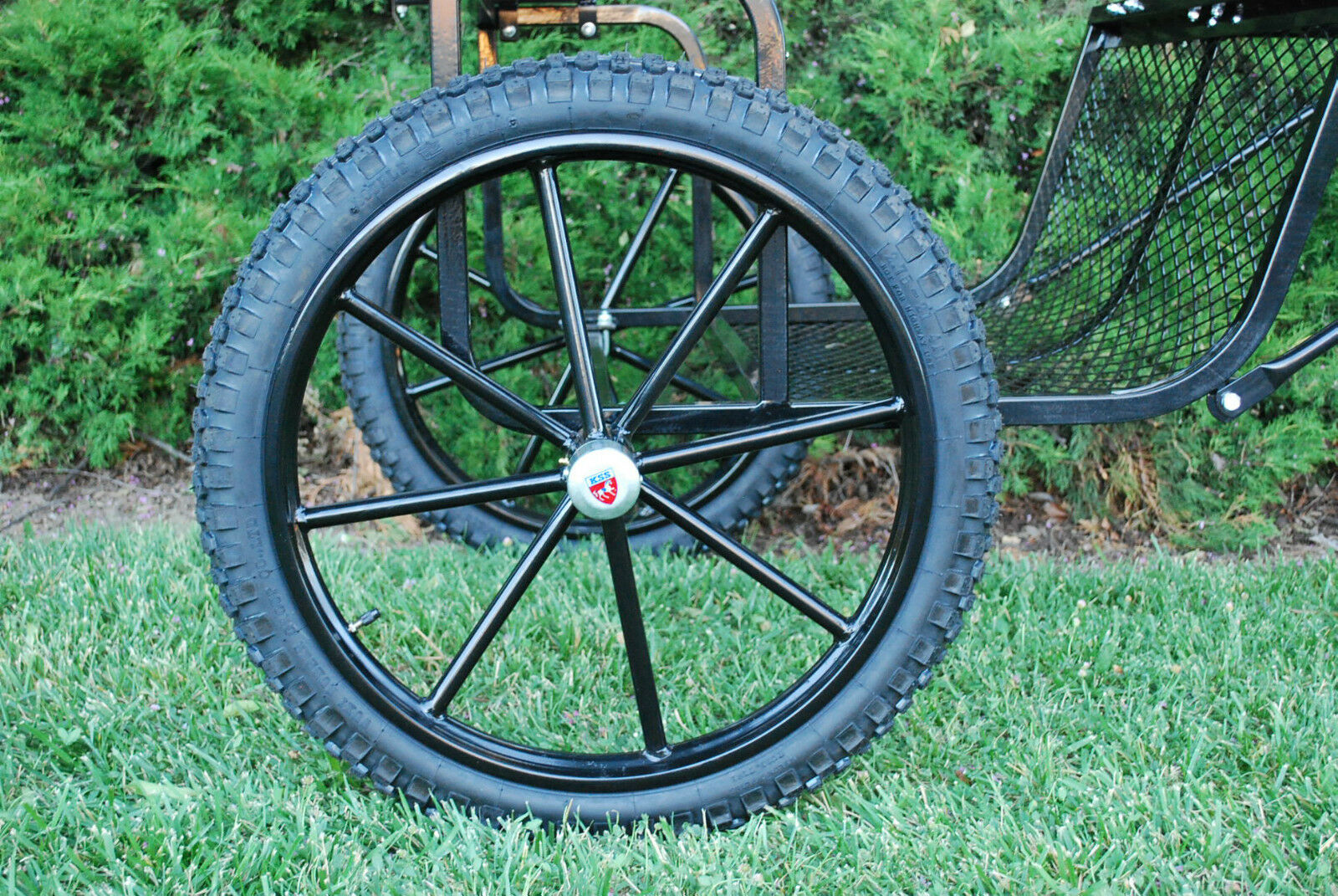 Pair Horse Carriage Rubber Tire for Cart Gig Pneumatic Wheels Rim-Tire 23 -3.00