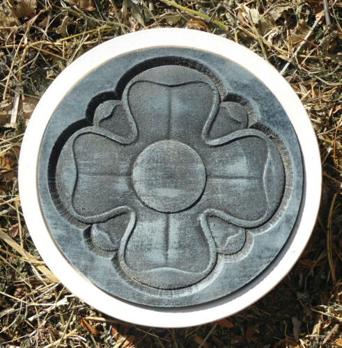 Flower stepping stone mold plastic garden casting mould
