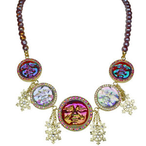 Kirks-Folly-Seaview-Water-Moon-Snowflake-Beaded-Necklace-Goldtone