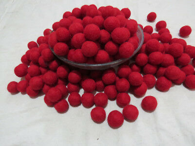 FB3 Hand Crafted 2cm 250 pcs multi wool Felt Ball Decorative pom pom beads Nepal