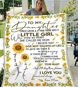 Sunflower Mom To My Daughter Remember You/'re Daughter Of King Sherpa Blanket