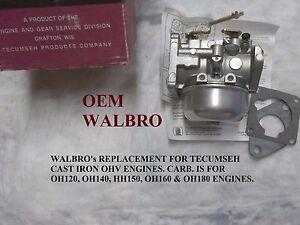 oem walbro carburetor for oh140 oh160 argo amphibious 6 x 6 tecumseh rh ebay com tecumseh 16 hp engine manual HP Manuals PDF