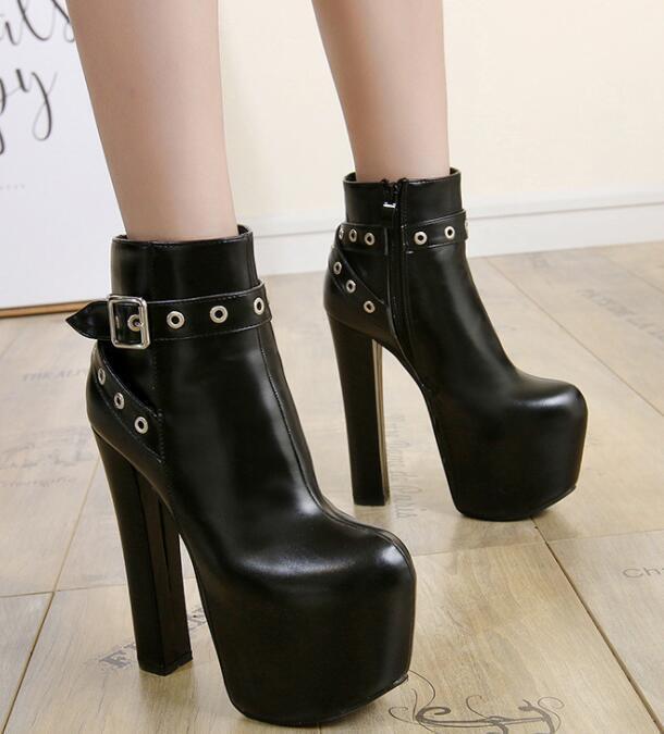 Chaussures Femme Plateforme Nightclub Bottines et talon bottier haut talon Chaussures Sz35-40