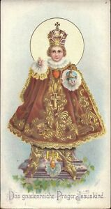 Prag-Jesus-Nino-Cuadro-Santos-Amria-Imagen-Milagrosa-Bohemia-Koloriert-B-6642