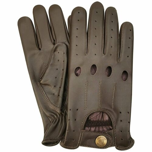 Men/'s Real Leather Unlined Comfort Quality Chauffeur Retro Style Driving Gloves