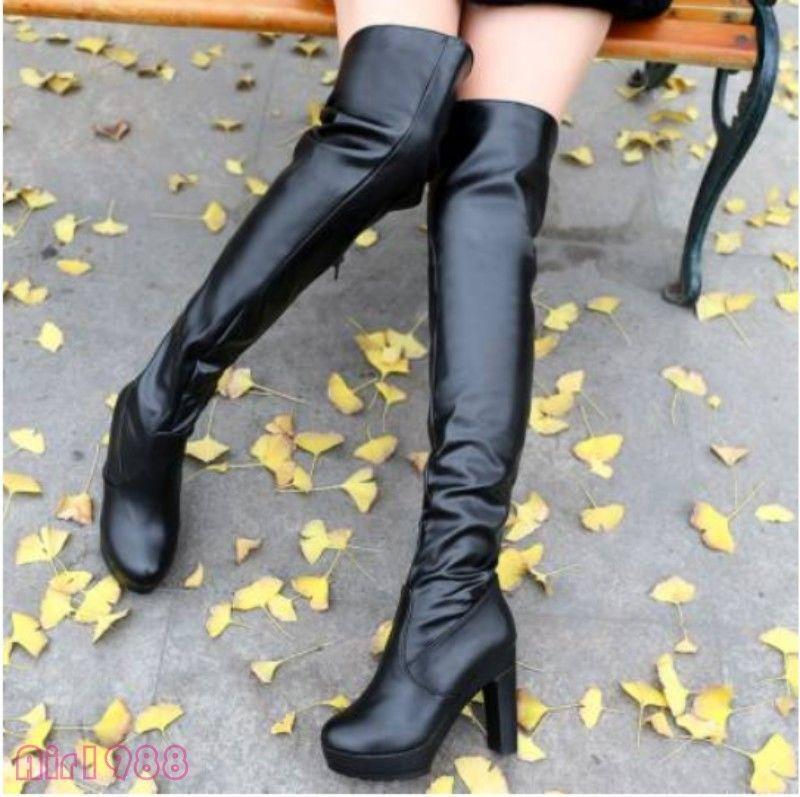 Womens High Heels Over the Knee High Boots Sexy Boots shoes Party New Size