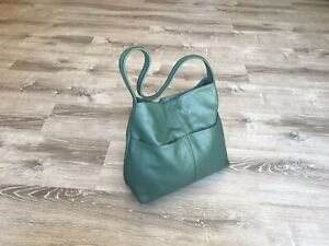 Green-Leather-Shoulder-Bag-With-Pockets-Fashion-Bags-Kim