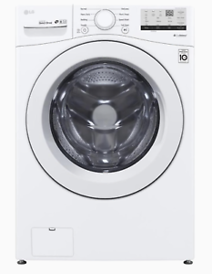 LG WM3400CW 4.5-cu ft High Efficiency Stackable Front-Load Washer New Out of Box