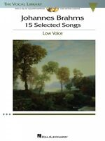 Johannes Brahms: 15 Selected Songs The Vocal Library - Low Voice Vocal 000001142