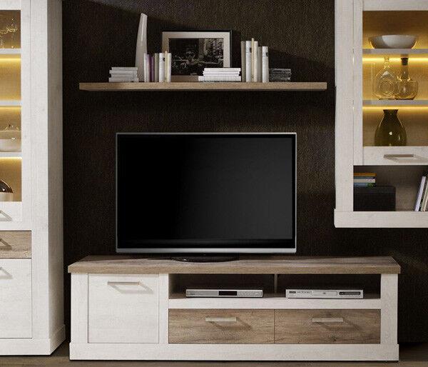 TV Unterschrank Lowboard Fernsehtisch pinie weiß eiche antik 179cm 62141