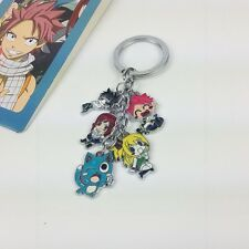 Anime Fairy Tail Cosplay 5 Main Characters Key Chain Ring KeyChain
