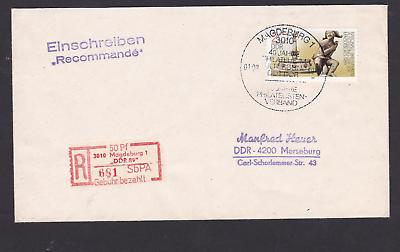 Briefe & Kartenposten WunderschöNen Ddr Bu Des Philatelistenverbandes 1989 Von Magdeburg Nach Merseburg Kataloge Werden Auf Anfrage Verschickt