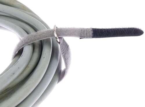 50 Serre-câbles Velcro 20 cm x 20 mm NOIR FK Velcro Velcro Serre-câbles