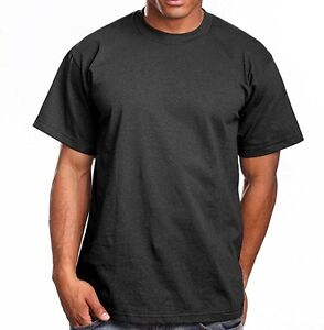 309092aa6 PRO 5 MEN'S SUPER HEAVY TIGHT NECK T-SHIRT SIZES REGULAR AND TALL S ...