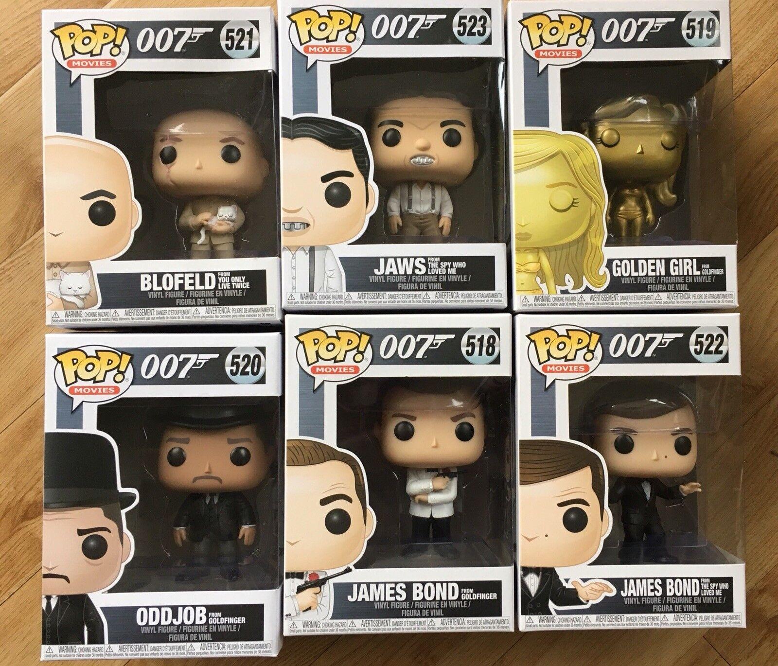 NUOVO Funko POP Figura in vinile Bundle - 007 Set di James Bond